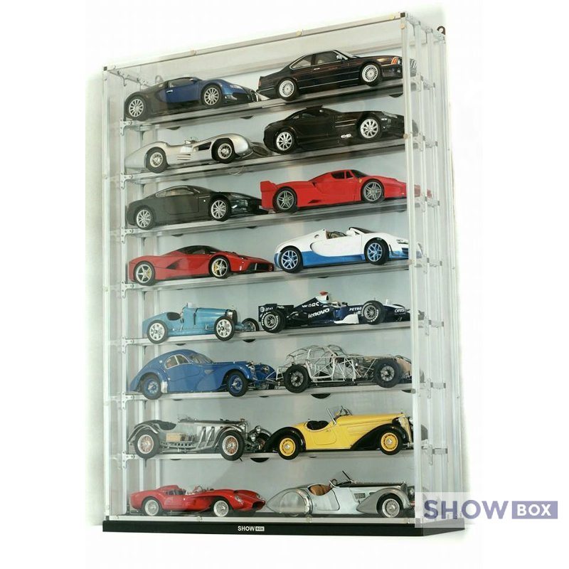 showbox vitrine display cabinets for diecast collectors models 1 18. Black Bedroom Furniture Sets. Home Design Ideas